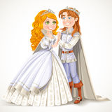 Lovely prince and princess holding hands Royalty Free Stock Photography