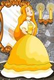 Princess Cinderella character cartoon  illustration Royalty Free Stock Image