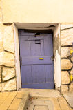 Lovely purple door Royalty Free Stock Photos
