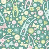 Lovely rabbits blue pattern Stock Photography