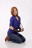 Lovely red haired woman Royalty Free Stock Photo