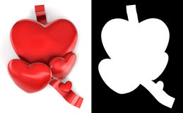 Lovely red hearts. Stock Photos