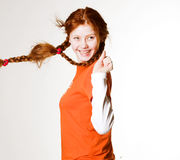 Lovely redhead girl Stock Photos