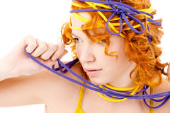 Lovely redhead with hairstyle Royalty Free Stock Photography