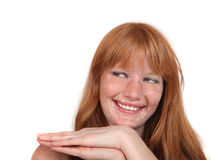 Lovely Redhead With Sparkling Natural Beauty Full royalty free stock photos