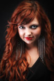 Lovely redhead - Young beautiful red haired woman Royalty Free Stock Photo