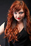 Lovely redhead - Young beautiful red haired woman. Blue eye Stock Photography