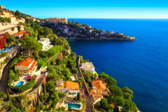 A lovely residential area in Cap d`Ail Stock Photos