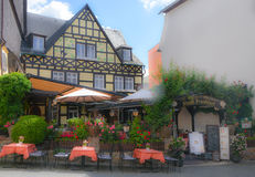 A lovely restaurant in rudsheim,Germany stock photography