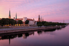 Lovely Riga early morning royalty free stock photography