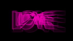 Lovely romantic heart and love sign animation. For Valentine's day stock footage