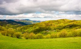 Lovely rural scenery in mountains Royalty Free Stock Images