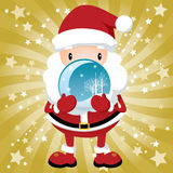 Lovely Santa Claus. Vector Illustration , Lovely Santa Claus width Golden background Royalty Free Stock Photos