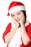 Lovely santa girl Stock Images