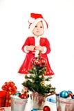 Lovely santa hepler Stock Photo