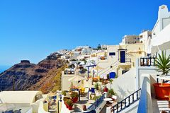Lovely Santorini island village architecture Cyclades Royalty Free Stock Image