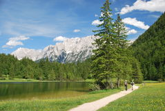 Lovely scenery at Ferchensee in the bavarian alps. Germany Stock Photography