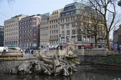 Lovely sculptures!!. Amazing city in Dusseldorf Royalty Free Stock Photo