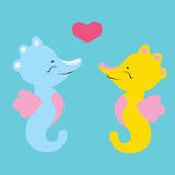 Lovely seahorses Royalty Free Stock Photos