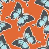 Lovely seamless pattern with butterflies. Lovely colorful seamless patterns with blue butterflies Stock Photography