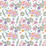 Lovely Seamless pattern with flowers,peonies,leaves,branches,eucalyptus,succulents, and more Royalty Free Stock Photos