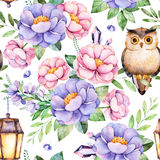 Lovely Seamless pattern with flowers Royalty Free Stock Images