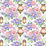 Lovely Seamless pattern with flowers Royalty Free Stock Image