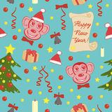 Lovely seamless  pattern of  New Year. Endless background. Royalty Free Stock Photography