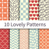 Lovely seamless patterns Royalty Free Stock Images