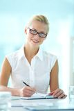 Lovely secretary Royalty Free Stock Images