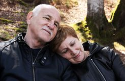 Lovely senior couple Stock Photos