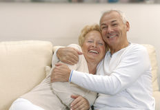 Lovely senior couple. Stock Photos