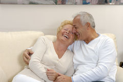 Lovely senior couple. Royalty Free Stock Images