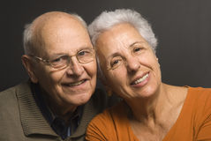 Lovely senior couple. Close-up of a lovely senior couple Stock Image
