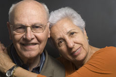 Lovely senior couple. Close-up of a lovely senior couple Royalty Free Stock Image