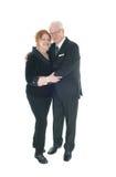 Lovely senior couple hogging. Royalty Free Stock Photography