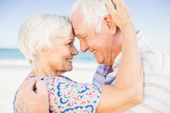 Lovely senior couple looking at each other Stock Photography