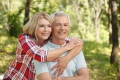 Lovely senior couple Stock Photos