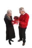 Lovely senior couple for valentine royalty free stock image