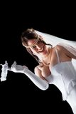 Lovely sensual bride in lingerie Royalty Free Stock Photos