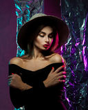 Lovely sensual girl in hat Royalty Free Stock Photo