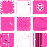 Lovely set of hearts - vector Stock Photo