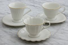 Lovely set of tea cups stock image
