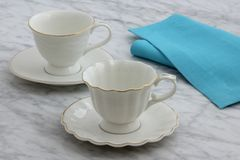 Lovely set of tea cups royalty free stock image