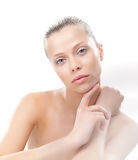 Lovely sexy girl with clean smooth skin Royalty Free Stock Photos