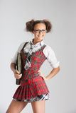 Lovely sexy school girl Stock Photography