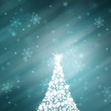 Lovely shiny blue Christmas tree abstract background Royalty Free Stock Image