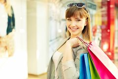 Lovely shopper Stock Images