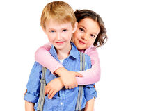 Lovely siblings Stock Images