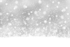Lovely silver snowfall background Royalty Free Stock Photo